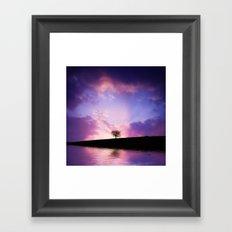 The sunset tree Framed Art Print