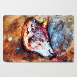Space Wolf No2 Cutting Board