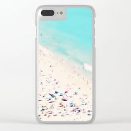 beach love III square Clear iPhone Case
