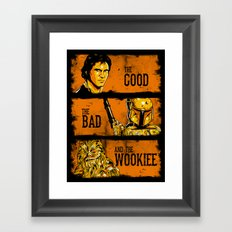 The Good, The Bad, and the Wookiee - New version Framed Art Print