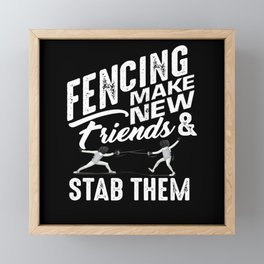 Fencing Friends Framed Mini Art Print