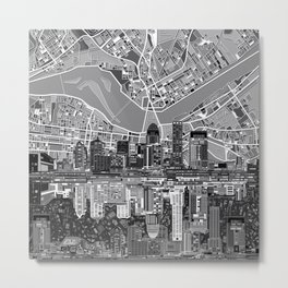 louisville city skyline 3 Metal Print