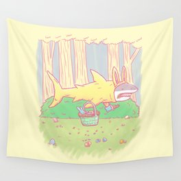The Easter Bunny Shark Wall Tapestry