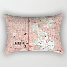 Fort Worth Texas Map (1995) Rectangular Pillow