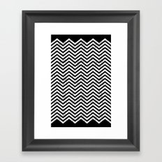 Black Lodge Zig Zag (Distressed) Framed Art Print