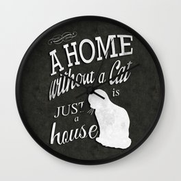 Home with Cat Wall Clock