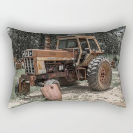 International 966 Rust Red Tractor with Cab Rusty Tractors Rectangular Pillow