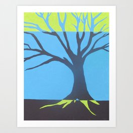 three color tree Art Print