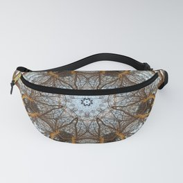 Golden stone, blue sky and arching branches kaleidoscope Fanny Pack