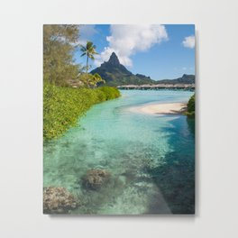 Bora Bora Mountain View Metal Print