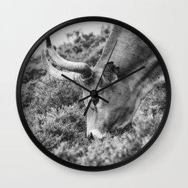 Portrait of a beautiful female cow Wall Clock