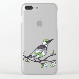 Pride Birds -  Agender Clear iPhone Case