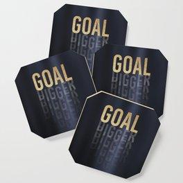 Goal Digger - Gold on Black Coaster