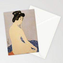 Woman after bath, 1920 by Goyō Hashiguchi Stationery Cards