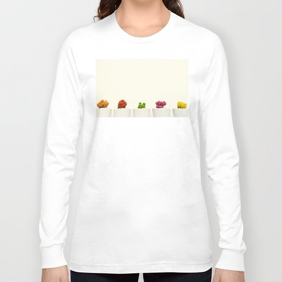 Creamy Cactus Colors Cuteness Cups Long Sleeve T-shirt