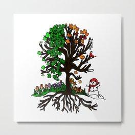 Four Season Tree Metal Print