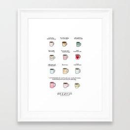 Coffee of Gilmore Girls Framed Art Print