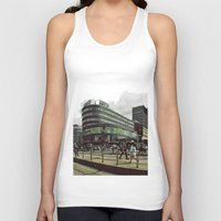 oslo Tank Tops featuring Modern city center of Oslo in Norway by Sunsetter Impact