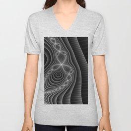 Black Lace Unisex V-Neck