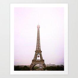 Paris, I love you Art Print