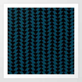 Blue Arrows Art Print