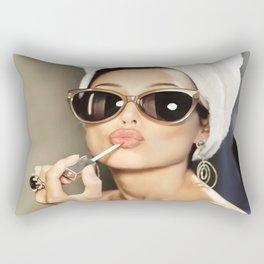 Audrey Hepburn Style Art  Audrey Style Art  Audrey Style Poster  Wall Art  Poster Print  Audrey Hepburn  Audrey Art  Lipstick Art Rectangular Pillow