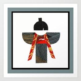 Yukio Red Art Print