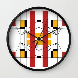 Geometric Abstaction Wall Clock