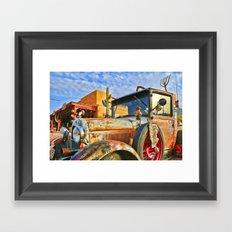 Old Trucks Never Die Framed Art Print