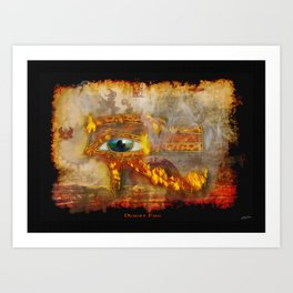 Desert Fire - Eye of Horus Art Print