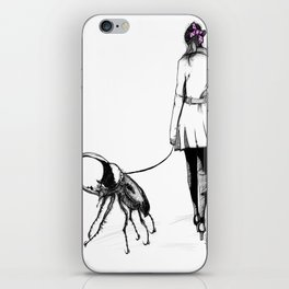 Pets ( and girl and her Beetle ) iPhone Skin