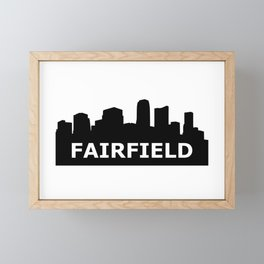 Fairfield Skyline Framed Mini Art Print