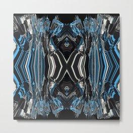 Blue Gel Metal Print