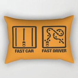 Fast Car - Fast Driver v2 HQvector Rectangular Pillow
