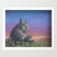 big poppa Art Prints featuring Poppa Bear by Hayley Welsh