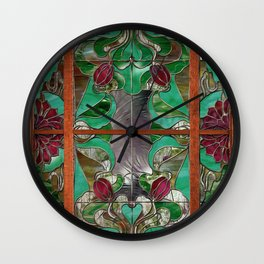 1922 Stained Glass Wall Clock