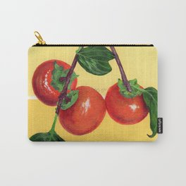 Persimmon Branch on Yellows Carry-All Pouch