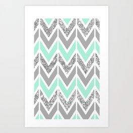 sparkle blue navajo Art Print