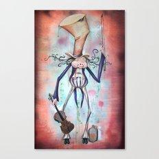 Piggy Fiddler Canvas Print
