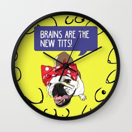 Brains are the new tits! Wall Clock