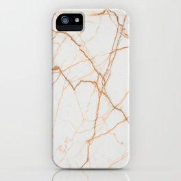 stylish minimalist trendy chic rose gold white marble iPhone Case