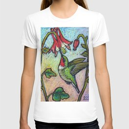 Rubythroat and Red Columbine T-shirt
