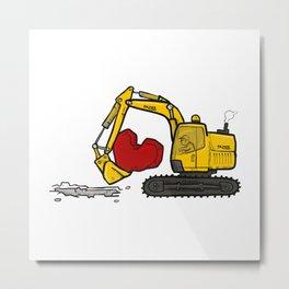 Heart Digger Metal Print