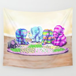 Elephant's Brunch Wall Tapestry
