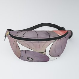 figs still life botanical watercolor Fanny Pack