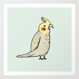 Happy Cockatiel Art Print