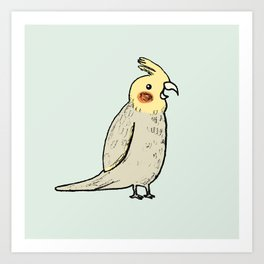 Happy Cockatiel Art Print
