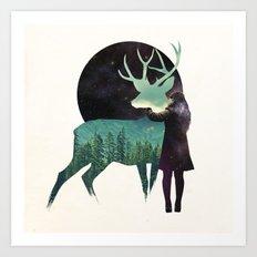 Let the universe love you Art Print