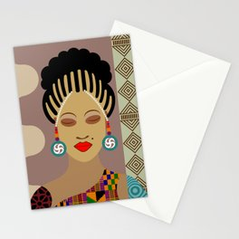 African Queen III Stationery Cards