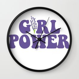 GIRL POWER LAVENDER Wall Clock